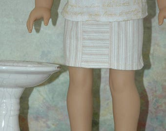 American, Made, Girl, doll, Mini skirt, 18 inch, doll clothes, doll clothes, skirt