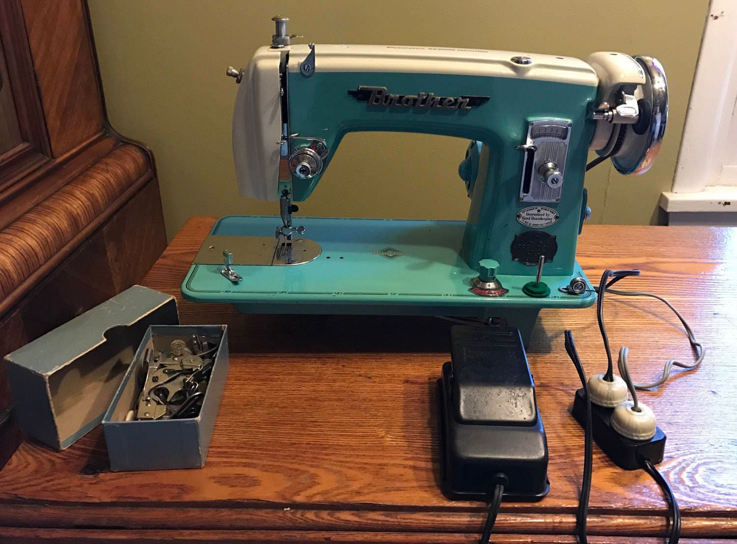 Vintage brother precision sewing machine from pinkpalmtree for Best home decor sewing machine