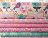 ON SALE Fat Quarter Fabric bundle for quilt or craft Michael Miller Sing Song bundle 6 Fat Quarters