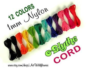 Blythe Doll Cord - 12 Color Set  Blythe Pullring Cord - 1mm Nylon Jewelry Cording for Making Custom Blythe Dolls & Blythe Pull String Repair