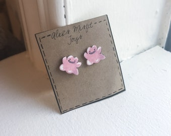 Kawaii Ditto Stud earrings
