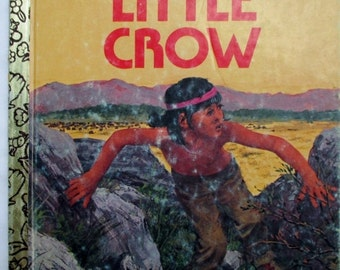 HOLIDAY SALE 20% Off Little Crow, A Little Golden Book, Vintage Rare Collectible Children's Book, 1970s