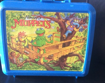 Vintage Jim Henson's The Muppets Lunchbox Aladdin Lunchbox