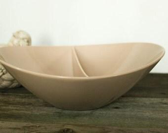 Fostoria Melanine Bowl, Tan Color, Mid- Century Retro Fun