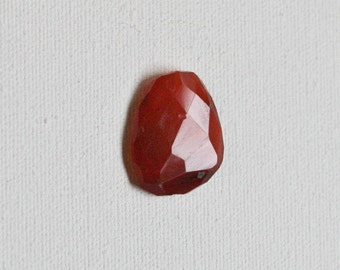 Faceted Red Carnelian Pendant Bead