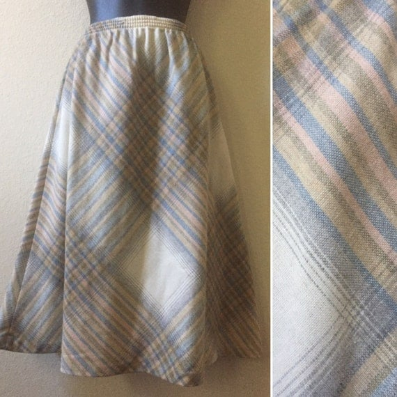1970s plaid skirt 1980s plaid skirt plaid by. Black Bedroom Furniture Sets. Home Design Ideas