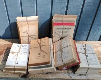 Distressed Book Set - Vintage Book Collection - No cover books - Vintage Book Bundle