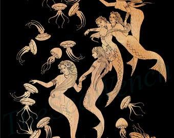 Medusae art print 12x16