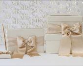 card box, guestbook/pen set