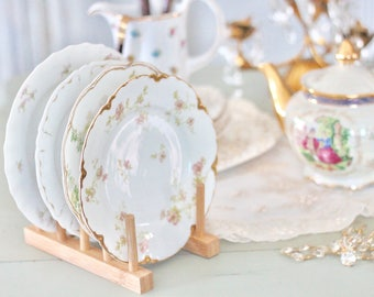 Limoges Dessert Dishes Set of 4 Vintage Plates Made in France - Mix and Match