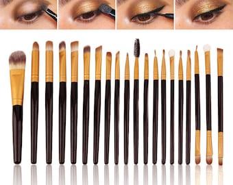 20PCS Eye Brushes Set Eyeshadow Blending Pencil Brush Make Up Tools Cosmetic HOT