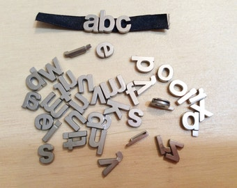 """3-Different Metal Letters, 2-Silver {1 is 3/4"""", 1 is 1/2""""}, 1-Gold 1/2"""", Free Shipping"""