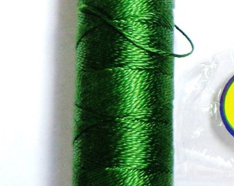 Perle cotton thread size 8 - dk.hunter green 3345