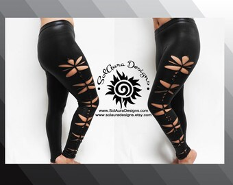 "Junior/Women Super Sexy ""CHEEKY LEGS"" Cut and Weaved Faux Pleather Leggings, Wet Look, Size S/M, M/L, L/XL, 2XL/3XL L-3004"
