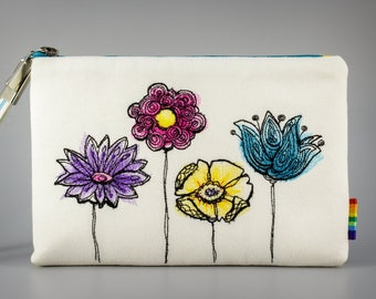 SALE - Embroidered Clutch with strap.