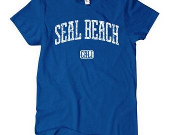 Women's Seal Beach California T-shirt - S M L XL 2x - Ladies' Tee, Gift, Seal Beach Shirt, Orange County Shirt, Pier, Surfing Shirt, Girl