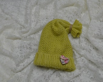 Newborn Hat...Baby Girl Hat...Newborn Photography Prop...Hat...Ready to Ship