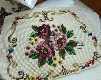 Needlework Purse panels Ready for Assembly Craft DIY supply Vintage new old stock 2 available