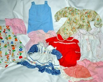 10 PC. Set of Vintage Baby Doll Clothes