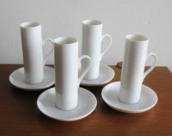 Vintage 50s LaGardo Tackett Schmid Porcelain Mid Century Modernist Demitasse Cup & Saucer Set