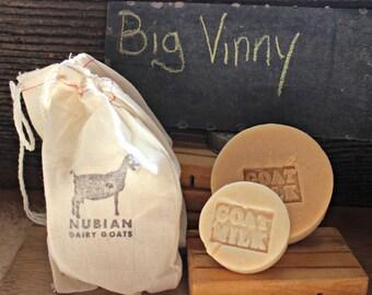 Big Vinny (Tobacco & Bay Leaf) Goat Milk Soap - Handmade, Natural Soap, Man Soap, Valentines Day Gift