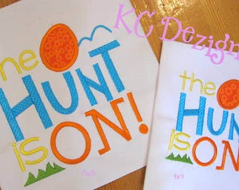 The Hunt Is On Easter Machine Embroidery Design - 4x4, 5x7 & 6x8