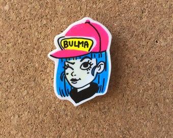 Winking Bulma Pin