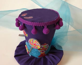 Willy Wonka Mini Top Hat - Party Hat - Chocolate Factory Hat - Willy Wonka Hat