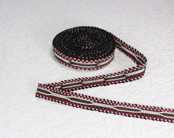 Woven Trim (6 yards), Woven Border, Cotton Ribbon, Grosgrain Ribbon, Dress Border, Border Trim, R169