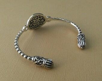 Sterling Silver Lace Cuff Bracelet