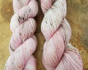 Hand Dyed Yarn - Strawberry Freckles