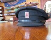 Authentic Rolls Royce // Peaked Chauffeur Hat // Steampunk // Unisex // Vintage Rolls Royce Drivers Cap