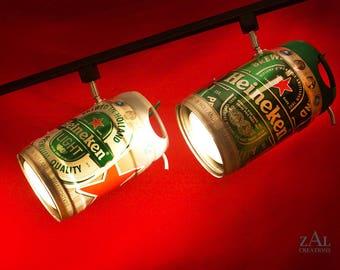 Giant Track light. Beer keg. Pair.