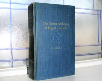 Vintage 1962 Book The Norton Anthology of English Literature