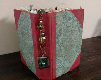 Journal - Hand Made - Vintage Themed - Mixed Media
