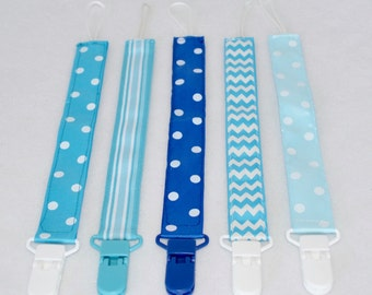 Pacifier Clips Select Your Print(s) - Sailing the Seas Collection