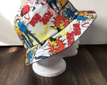 Unisex summer hat/bucket hat in a Star Trek fabric (Size Medium)