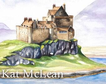 Watercolor - Duart Castle - Print on Paper