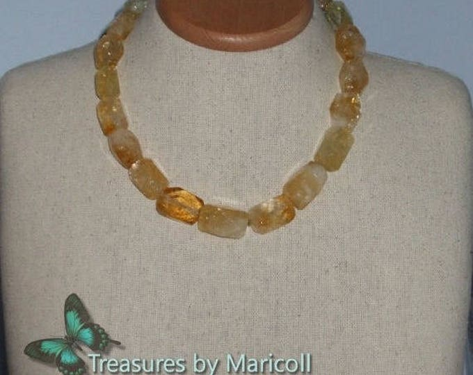 Beautiful Big Nuggets Citrine Necklace