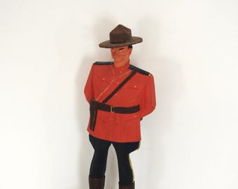 Hand Carved Wooden Hannah Mountie Figurine