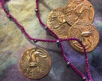 Bronze Axolotl Coin