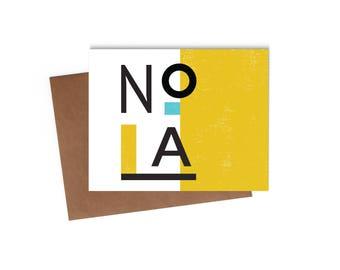 Modern Nola - Blank Card - Digitally Printed A2 Cards w/ envelope