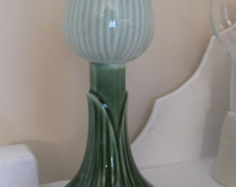 Vintage Green Tulip Candle Holder
