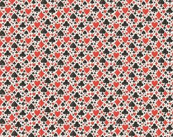 Blend Fabrics - Wonderland by Josephine Kimberling - Card Suits White