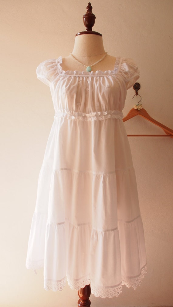 My baby doll sweet dress bridal shower white vintage by for Baby doll wedding dress bridal gown