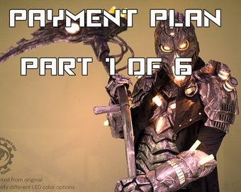 Pre-order for  April 2018 Payment plan part 1 of 6 The Electromancer v2.0 customized made to order  - Full original LED sci-fi armor costume