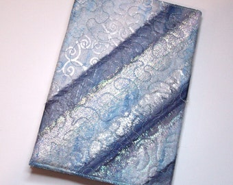 Frozen Stripes Embroidered Organza Address Book