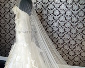 AS72 Silk Tulle Lace Veil