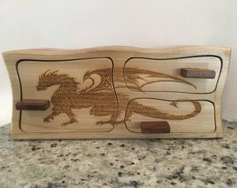 Dragon Engraved Bandsaw Box