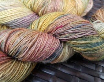 Ozymandias: 100g hand dyed merino/nylon sock yarn